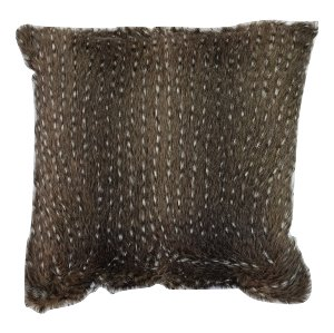 Black Animal Fur Pillow