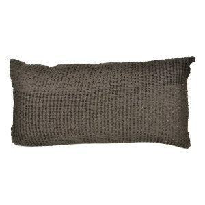 Black Textured Lumbar Pillow