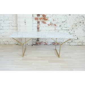 White and Gold Marble Coffee Table