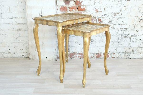 Florentine Gold Nesting Tables