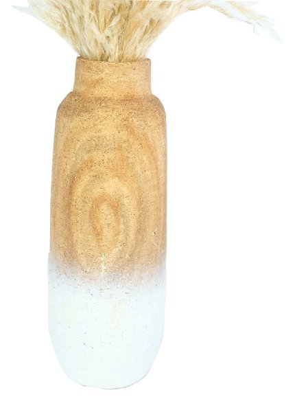 White Ombre Floor Vase, Large