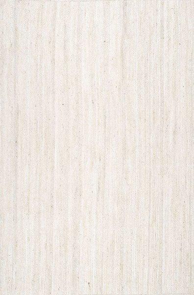 White Sisal Weave Jute Rug