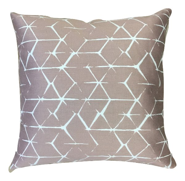 Mauve Blush Geometric Pillow