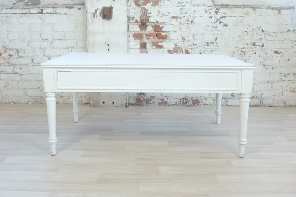 White Lightly Distressed Coffee Table