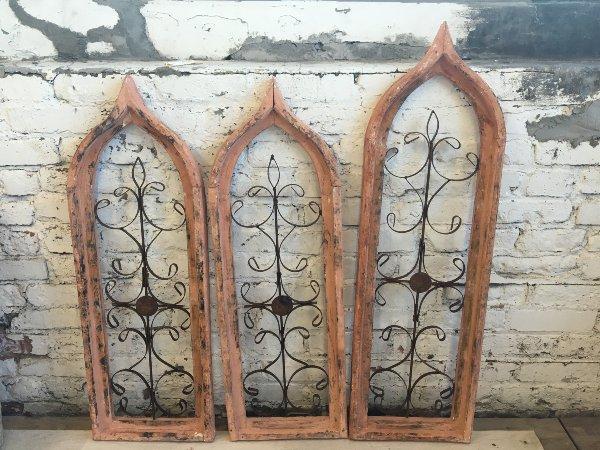 Peach Gothic windows