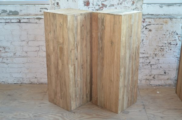 Teak pillars - Tall wider