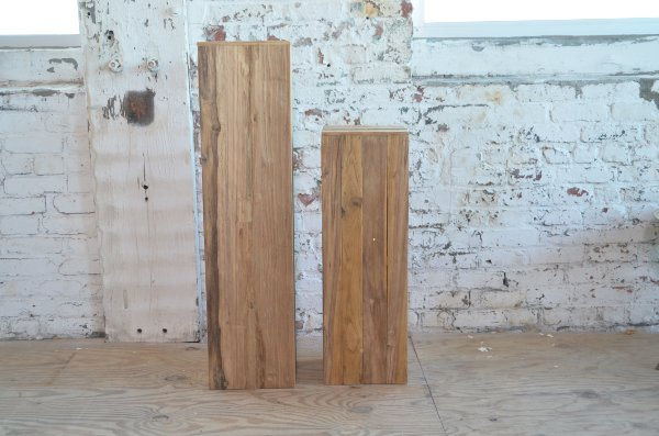 Teak Pillars - thin short