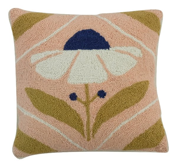 Black Eyed Poppy Pillow