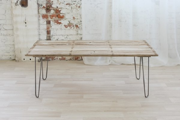 Reclaimed Wood Hairpin Coffee Table