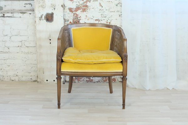 Yellow Mid Century Mod Chair