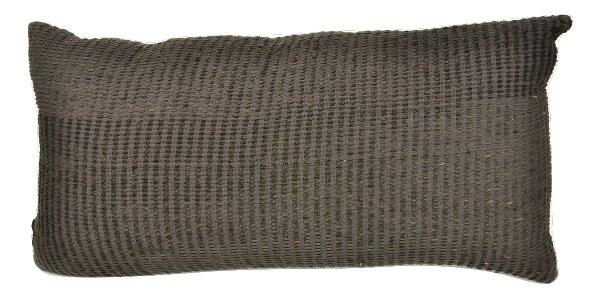 Black Textured Lumbar Pillow