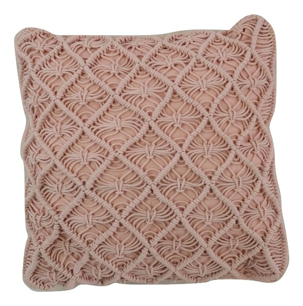 Pink Cable Pillow