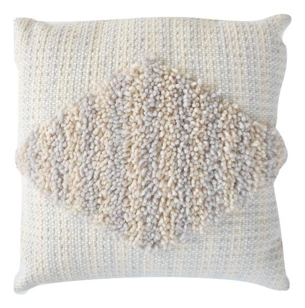 Textured Blue Striped Pillow