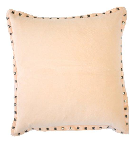 Peach Velvet Studded Pillow