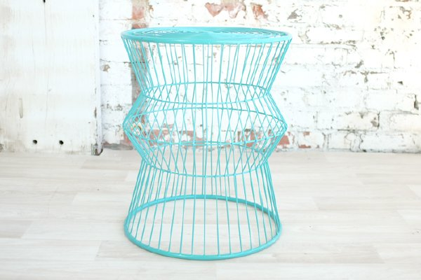 Turquoise Wire Side Table
