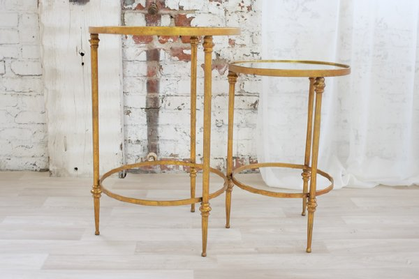 Gold and Mirror Nesting Tables