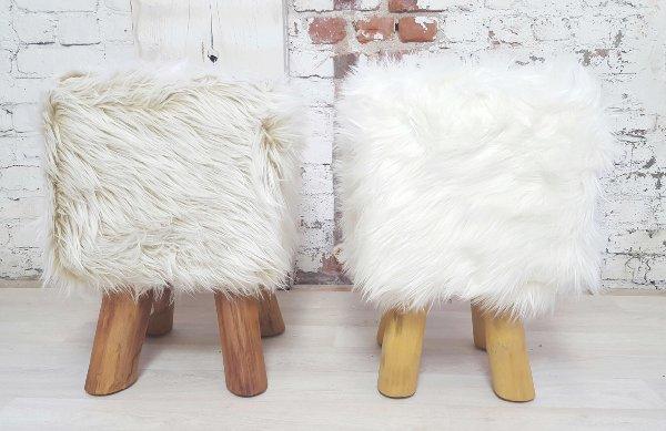 Nugget fur stools