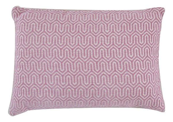 Lilac Geometric Pillow