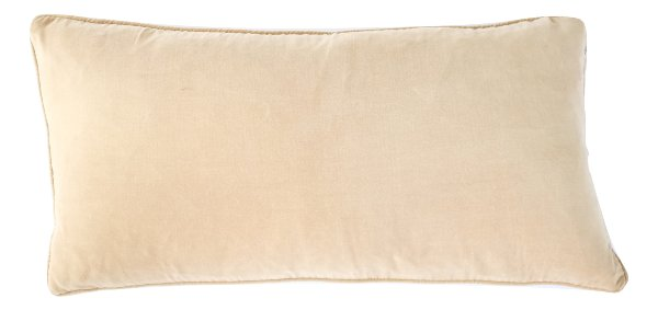 Tan Velvet Lumbar Pillow
