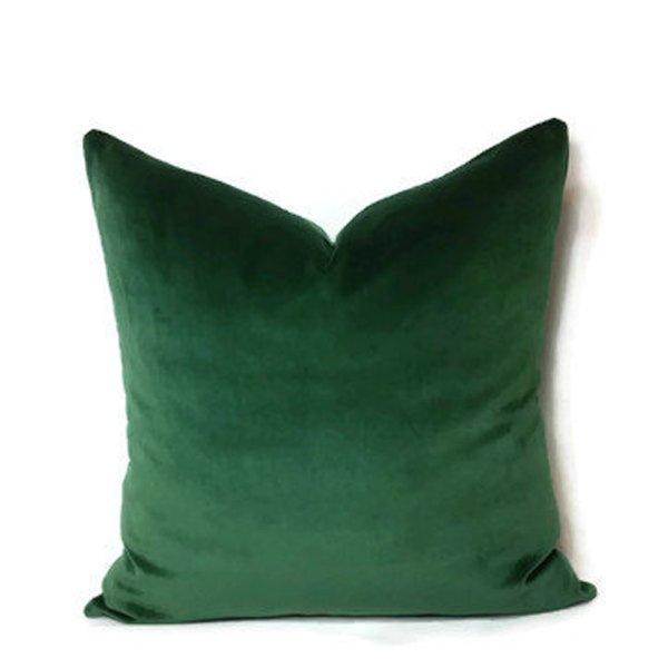 Emerald Velvet Pillows