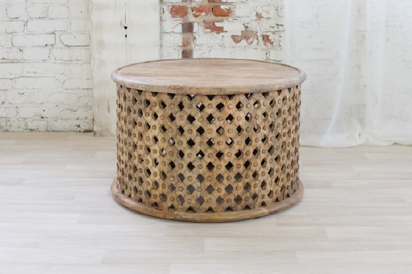 Mango Carved Coffee Table