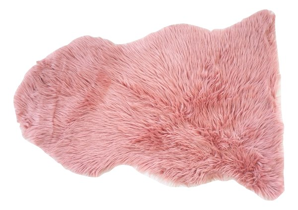 Mauve Pink Fur Throw/Rug