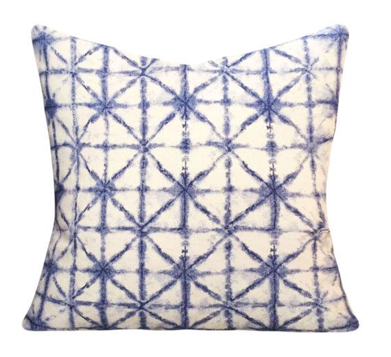 Shibori Indigo Pillows