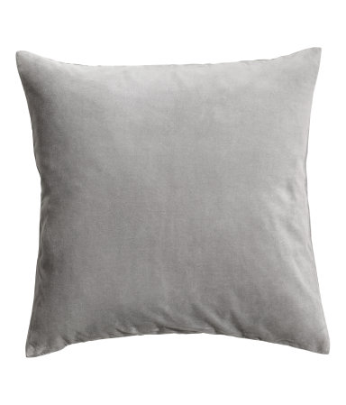 Light Gray Velvet Pillow