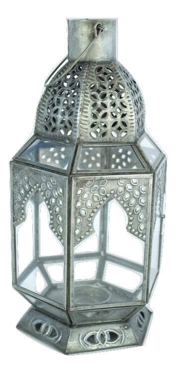 Antique Zinc Moroccan Lantern, Large