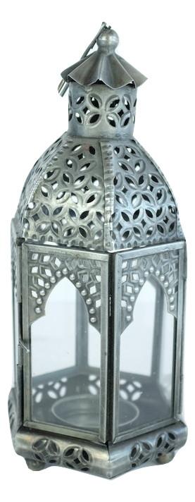 Antique Zinc Moroccan Lantern, Small