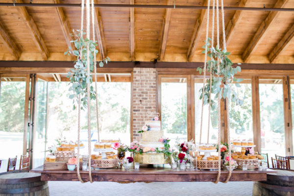 hanging wood table