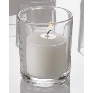 Clear Votive w/ White Candle