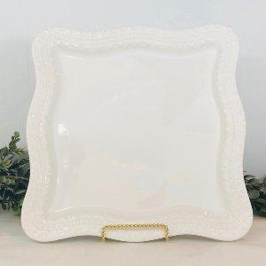 Shapely White Platter