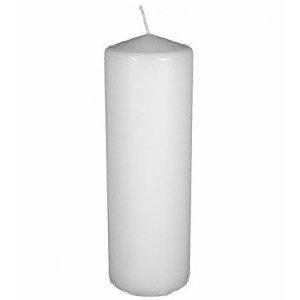 Large White Pillar Candle