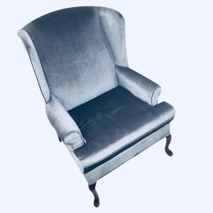 Blue WIllow Wingback Chair