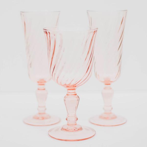Sheer Pink Goblets/glasses