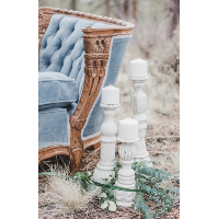 Cultivated White Candleholders