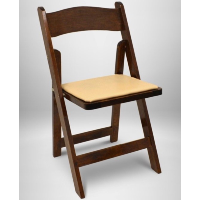 Dark Wood Folding Chair w/Pad