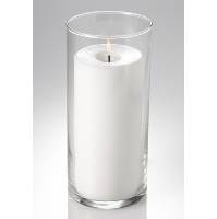 Medium Cylinder Pillar w/Candle