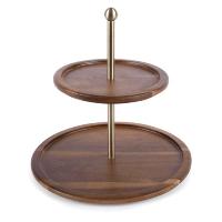 Acacia 2-tiered tray