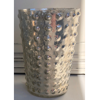 Medium Silver Mercury  Votive w/Candle