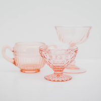 Sheer Pink Parfait & Tea Cups