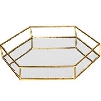 Large Felicia Gold Mirror Tray