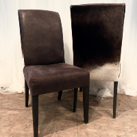 Noble Cowhide Backed Chair
