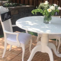 Clawfoot Table - Round White