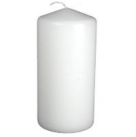 Medium White Pillar Candle