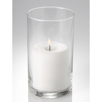 Small Cylinder Pillar w/Candle