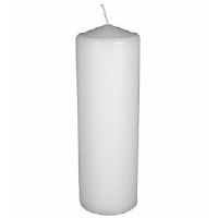 Large White Pillar Candle