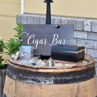 Dark Wood Cigar Bar Sign
