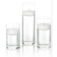 Floating White Candles